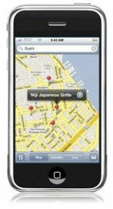 Find a local business using the map on your phone