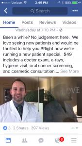 facebook-video-post-dental-client